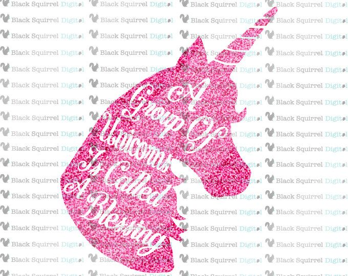 A Group Of Unicorns Is Called A Blessing SVG File with