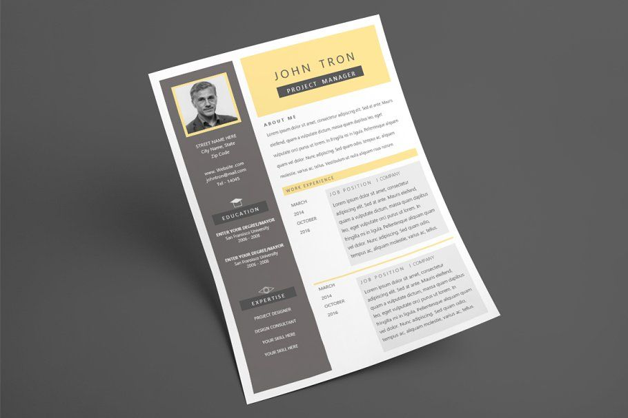 Express resume template 2 page in 2020 resume template