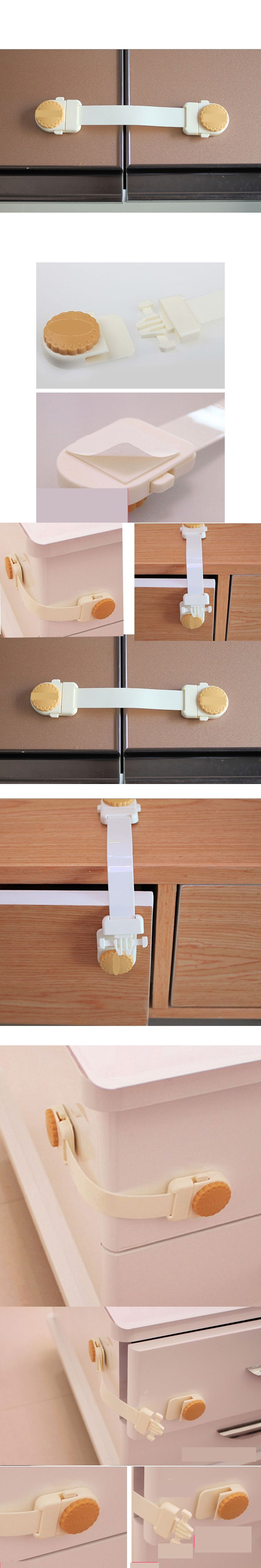 1 pc Bendy Safety Plastic Locks For Child Kids Cabinet Door Drawers