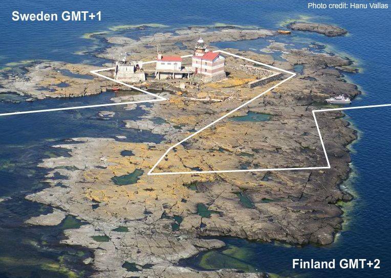 The Strange Border Between Sweden And Finland On Märket Island An - Us map minus uninhabited