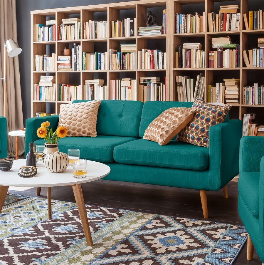 Astounding Sofa Türkis Das Beste Von Croom I (3-sitzer) - Webstoff - Türkis