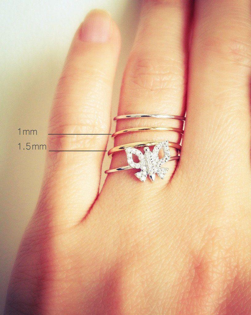 1 5mm Thin Gold Band 14k Rose Gold Thin Gold Band Skinny Gold Ring Modern Wedding Rings