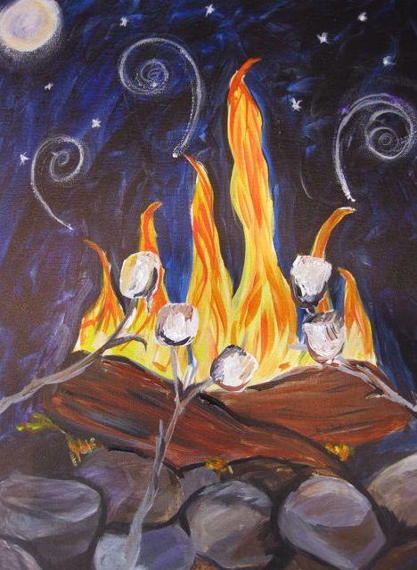 campfire … | Pinteres… Campfire Painting
