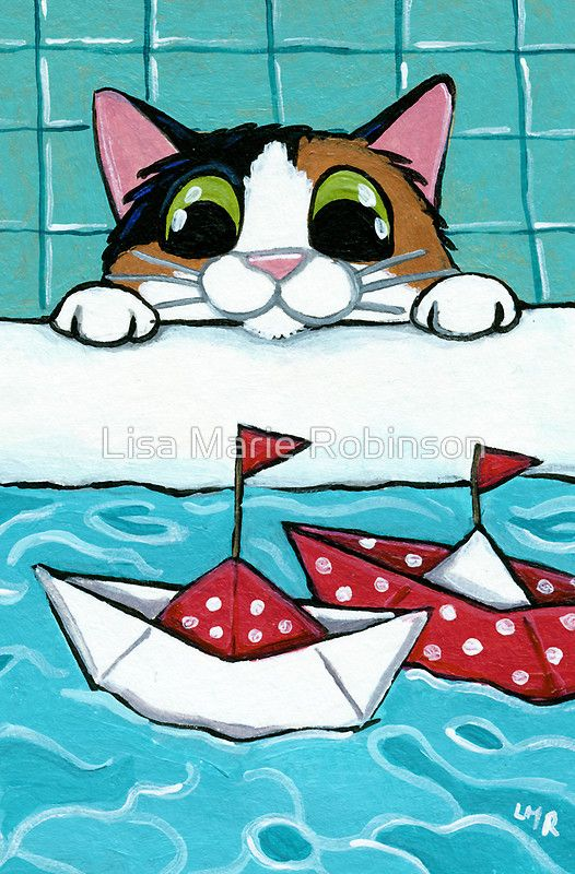 Paper Sail Boats Greeting Card by Lisa Marie Robinson