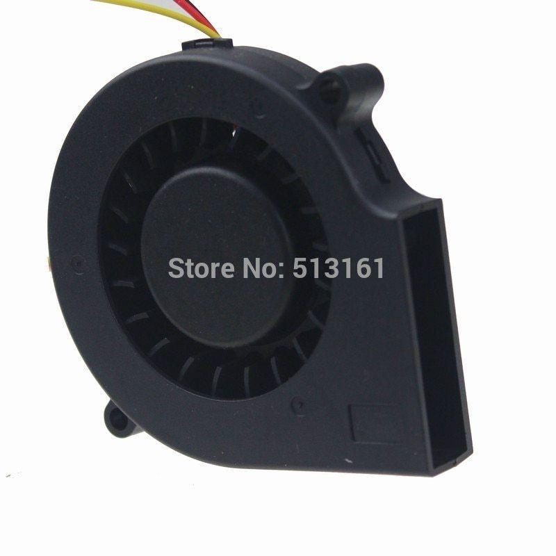 2pcs GDSTIME Ball Bearing 75mm x 30mm 12V Blower Fan Computer Cooling Fan 2pin