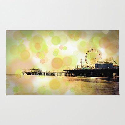 Orange Green Santa Monica Pi... from society6.com on Wanelo