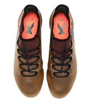 Arial view of the adidas X 17.1 gold football boots  cd727026b09
