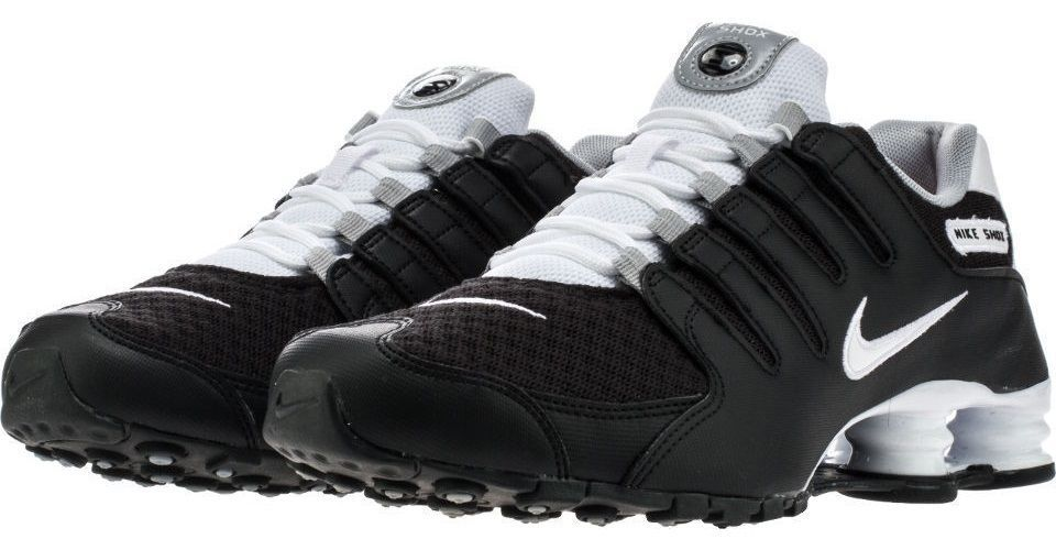 191d9a7c760 Nike Men s Shox NZ SE Running Shoes 833579 002 Black White Wolf Grey Size  14  NikeAir  RunningCrossTrainingSneakers