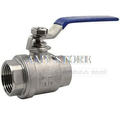 1 Female Bspp 304 Stainless Steel Full Port Ball Valve Vinyl Handle Wog1000 Valve Vinyl Plumbing