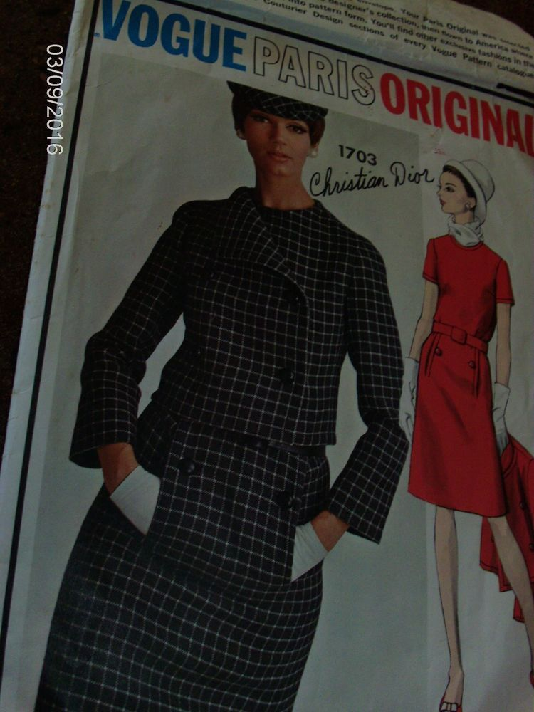 VPO 1449 Christian Dior 1Pc Dress & Jacket 60s Sz18/38/40 20pcs c/c sld 68.77+2.45 8bds 3/19/16