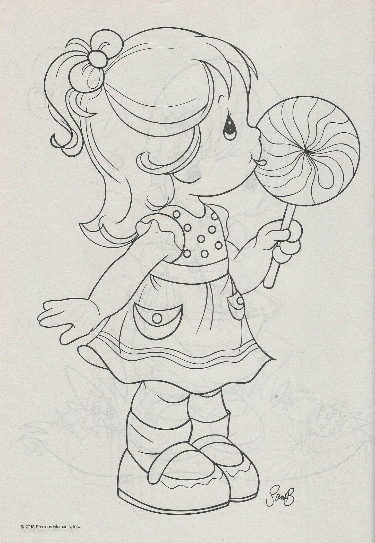 little girl with lollipop   Drawing   Pinterest   Mädchen und ...