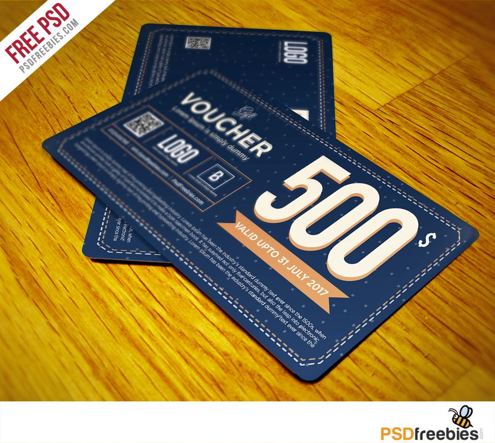 Download Gift Voucher Template Free PSD Vol