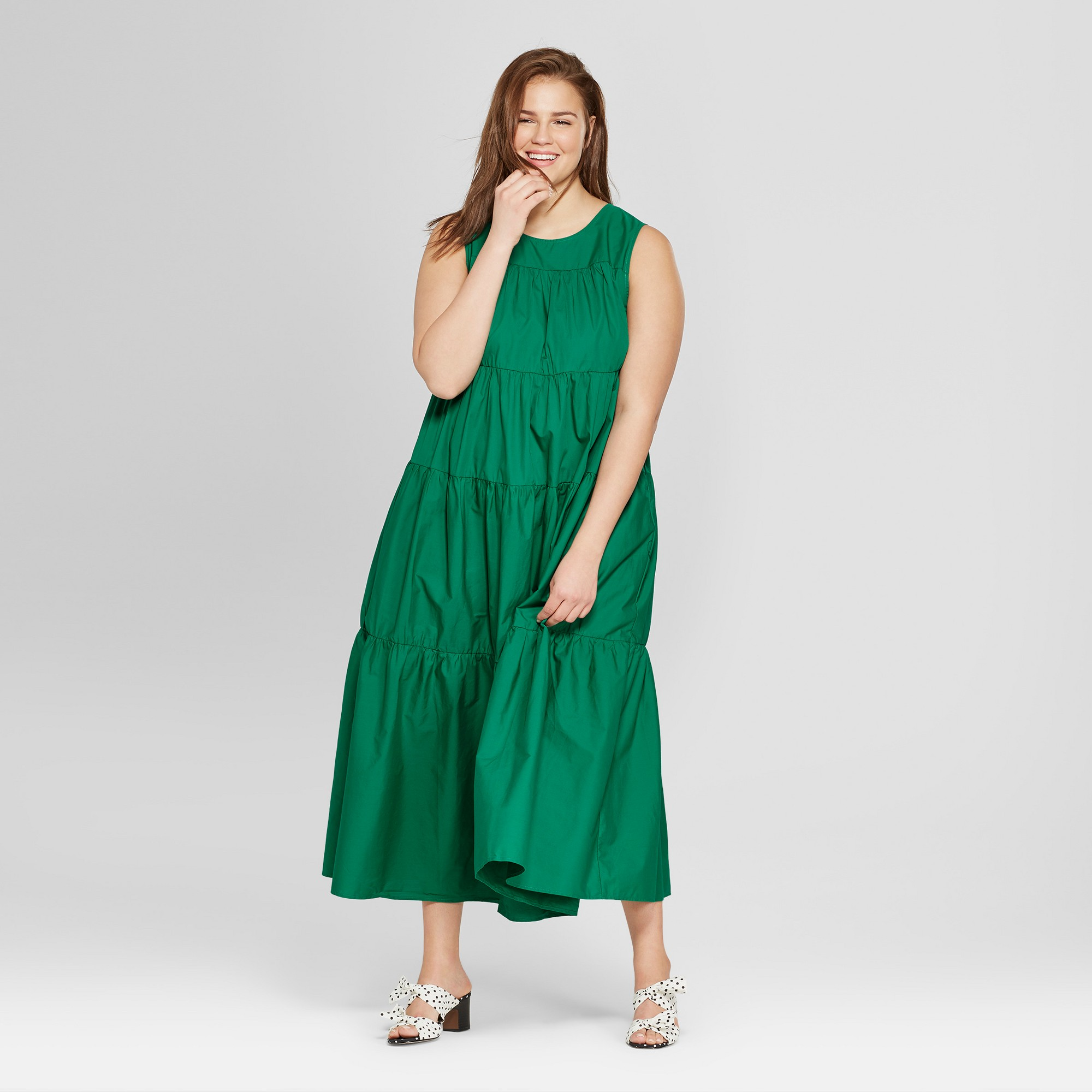 abb1191a8211 Women's Plus Size Tiered Maxi Dress - Who What Wear Green 2X ...