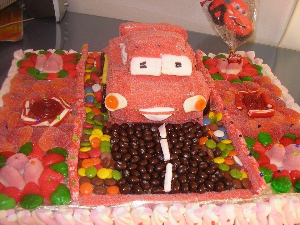 Tartas chuches cars buscar con google cars party ideas - Manualidades con gominolas ...