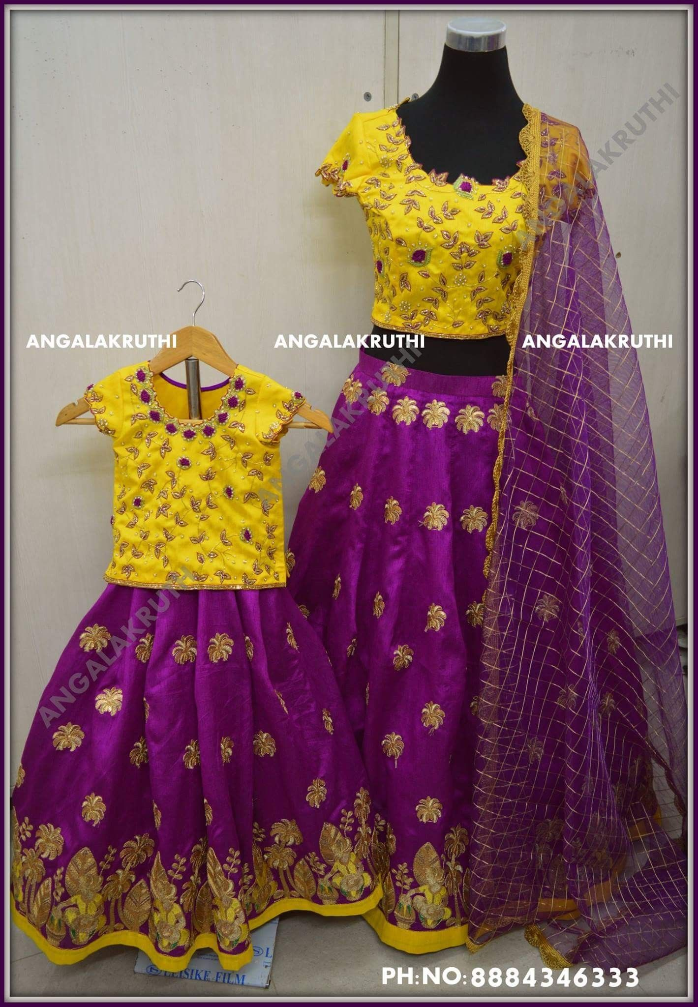 6b5abf0a30 Mother and Daughter matching dress designs by Angalakruthi boutique  Bangalore