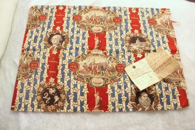 1893 Chicago World S Fair Columbian Exposition Columbus Fabric Cotton Pillow Cotton Pillow Bohemian Rug World S Fair