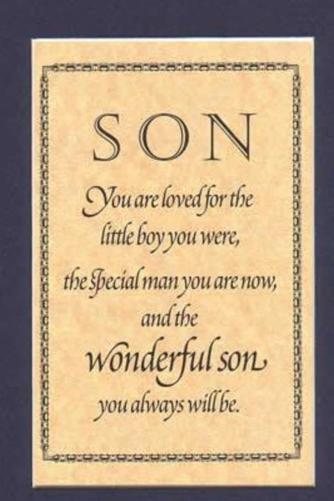 Thank You Son For Being The Wise Strong Loving Caring