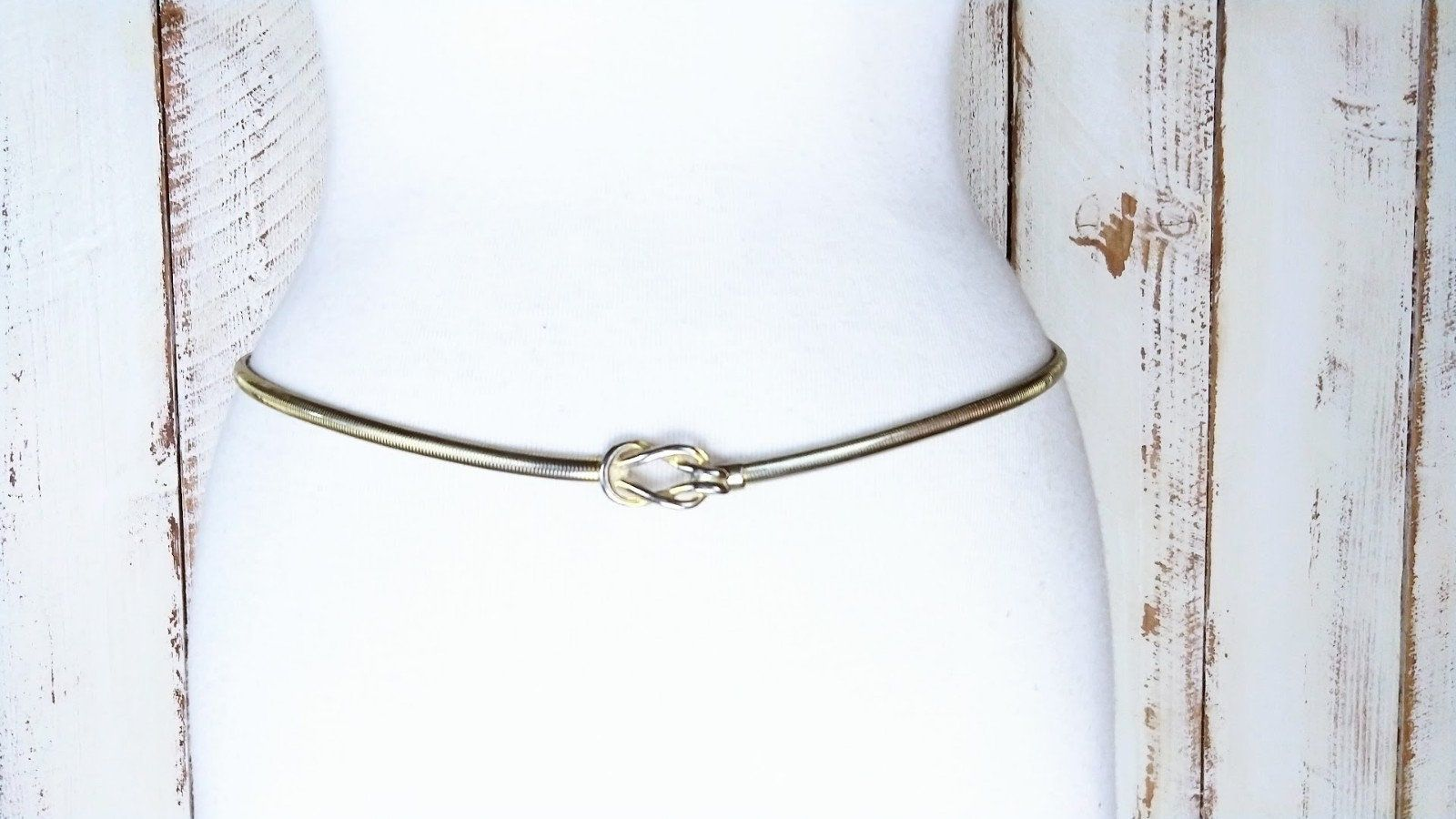 Gold /& Silver Metal Snake Chain Elastic Stretchy Waist Belt