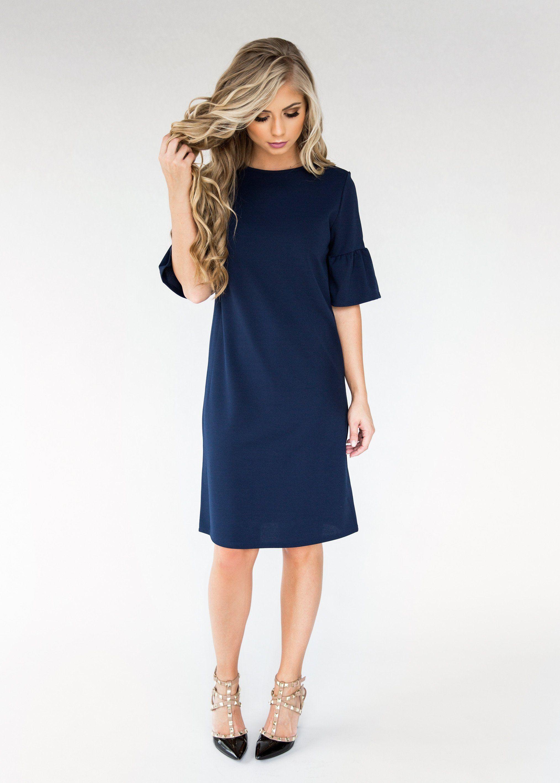 Navy josie flutter dress clothes