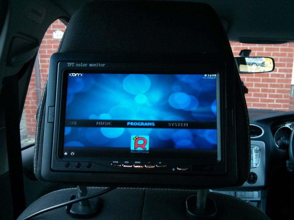 Car computer Headrest Monitor running Raspbmc | Raspberry Pi in 2019