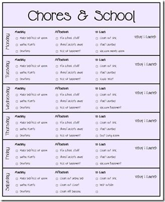 Our Chore System \ Chore Charts for Kids Printables Chore system - chore chart