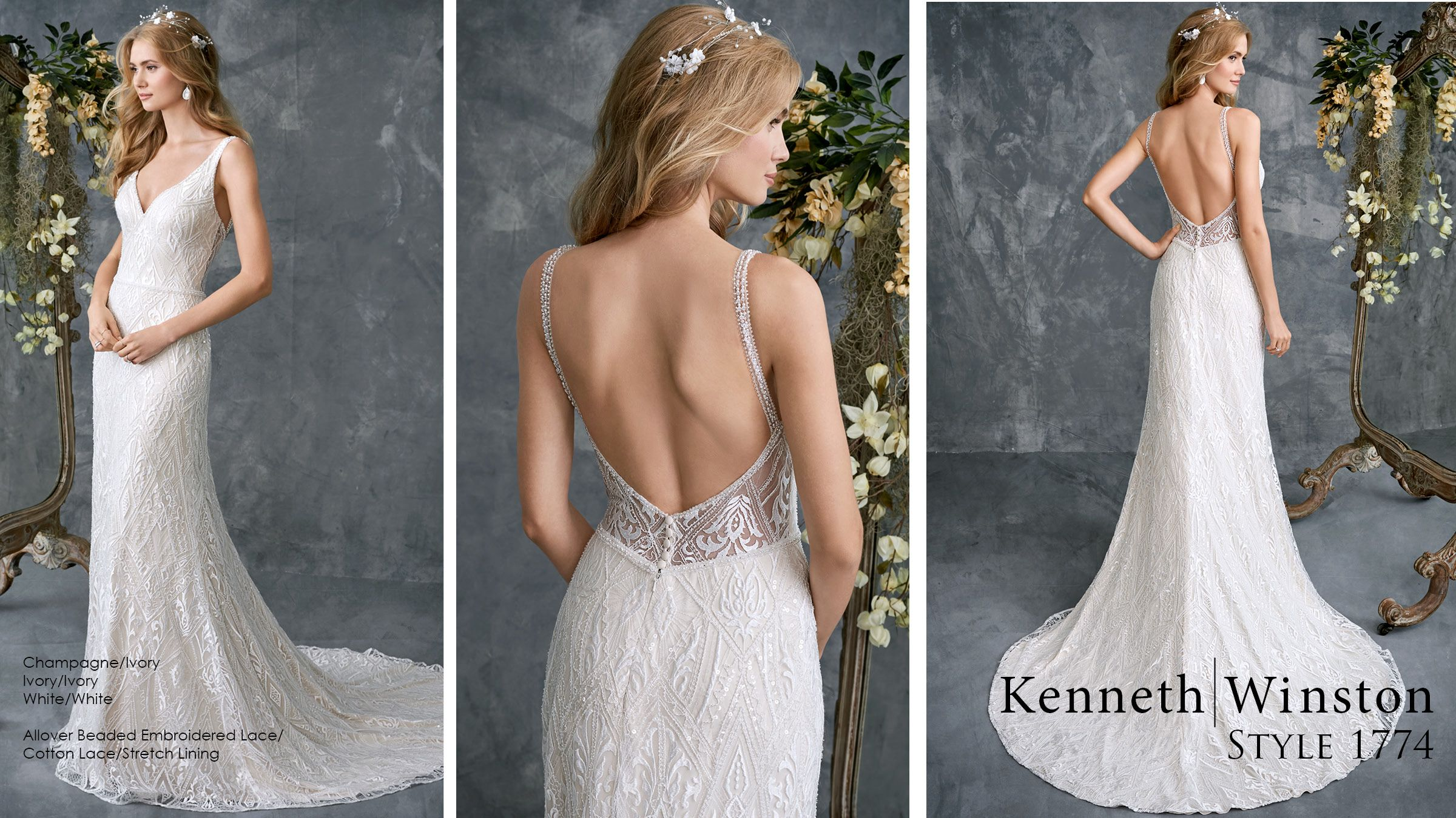 Luxurious Lace Fitted Gown