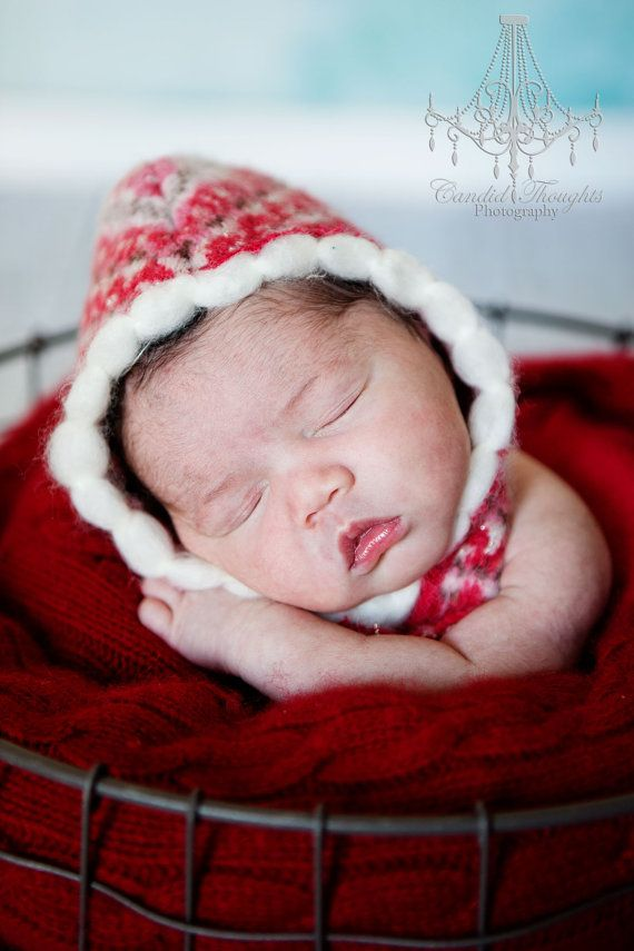 This is a great little hat for a photography prop for Valentines day Babies. If you like winter baby themes then you will love this little hat for