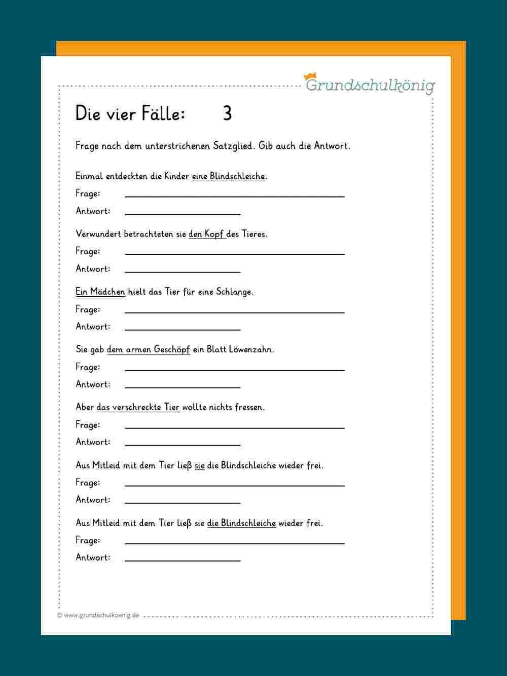 Die 20 Fälle   Rechtschreibung lernen, Grundschulkönig, Lernen ...