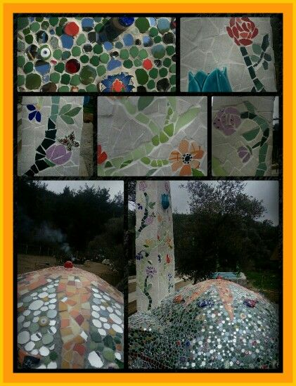 Cusine,mosaic,mirror,glass,tile,beeds,dishes,