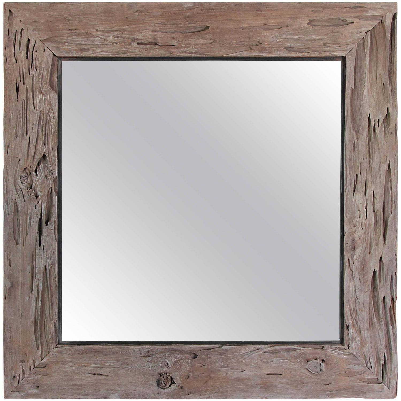 Organic Cypress Wood Wall Mirror