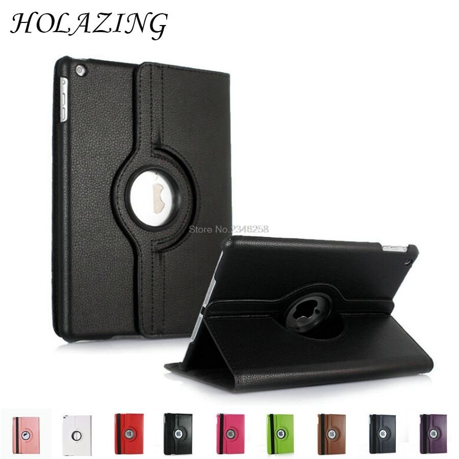360 Graden Rotatie Case Voor Ipad 2 3 4 Pu Lederen Stand Cover Rotating Degree Leather For Ipad2 Ipad3 Ipad4 Met Smart Auto On Off Funda Coque