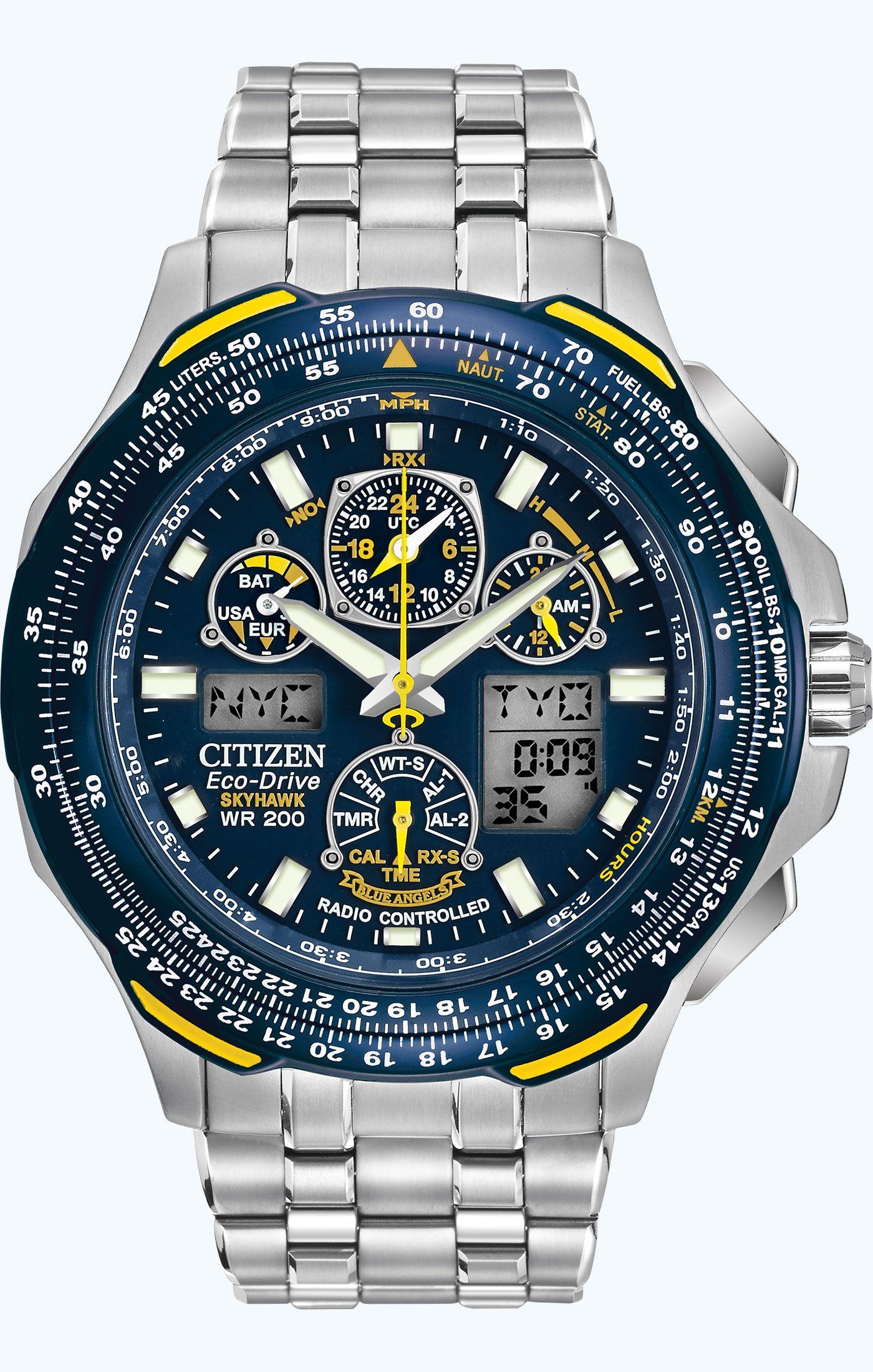 2d10b19825c Citizen Citizen Eco-Drive Blue Angels Skyhawk A-T JY0040-59L Atomic  Timekeeping