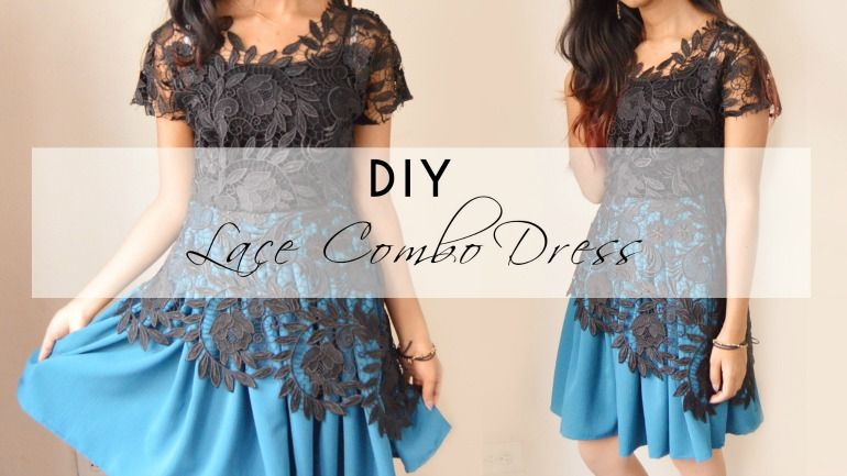 Diy Lace Combo Dress Tutorial Diy Dress Lace Overlay Dress Pattern Combo Dress