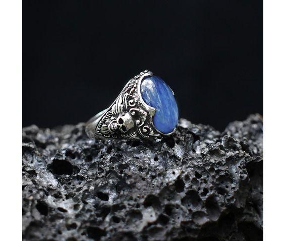 Sterling Silver Kyanite Skull Ring