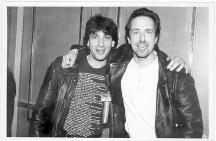 Neil Gaiman & Clive Barker. My two favorite writers. Via Clive Barker'a Facebook page.