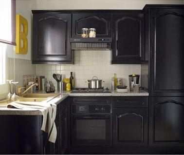Resultat De Recherche D Images Pour Cuisine Repeinte Chapeau De Gendarme Noir Repeindre Meuble Cuisine Peinture Meuble Cuisine Meuble Cuisine