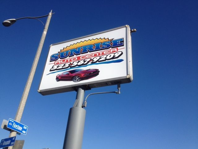 Business Signs #autoshop #business #customsigns #graphicdesign #printshop #inkheadprints