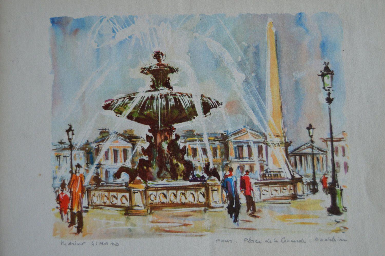 Marius Girard Watercolors Paris