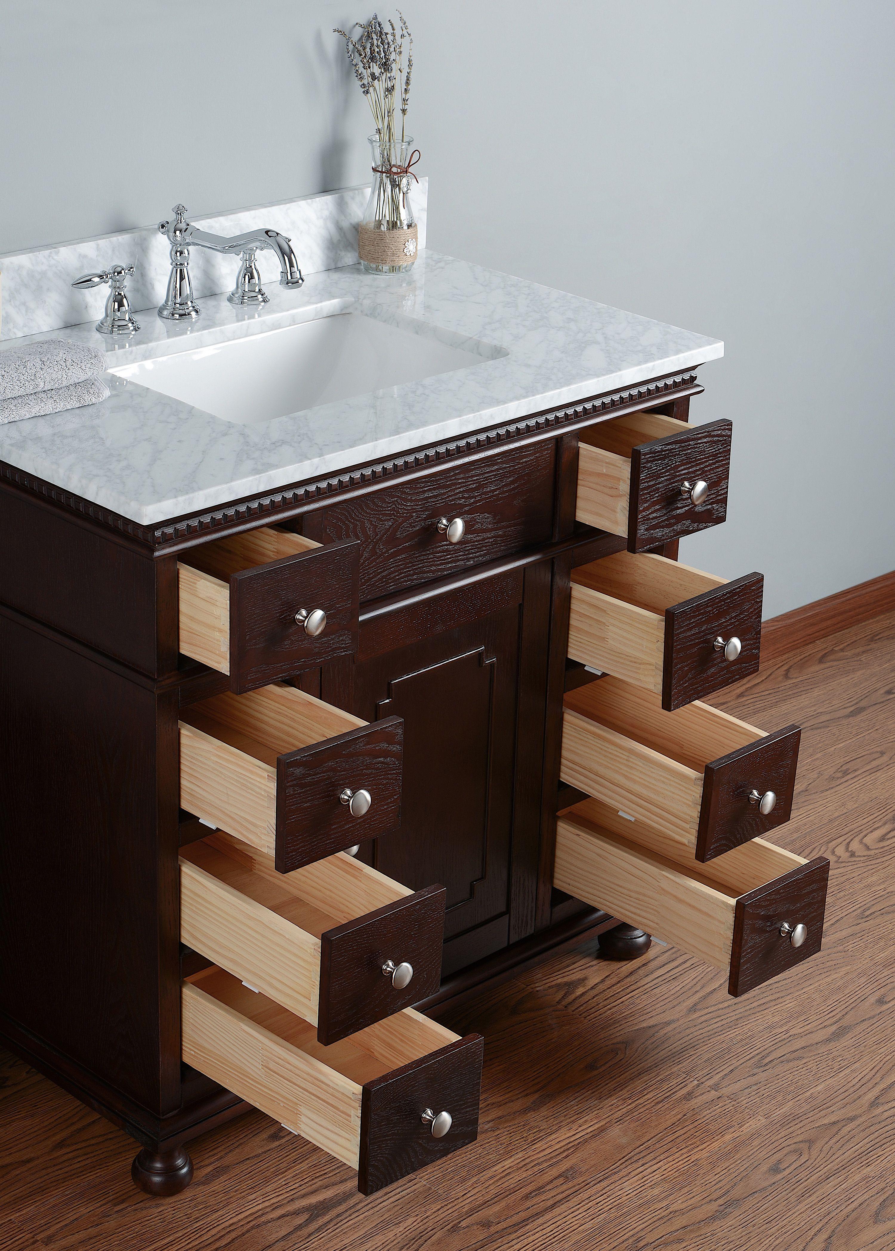 "Rubeza 48"" Didim Luxury Bathroom Vanities With Italian"