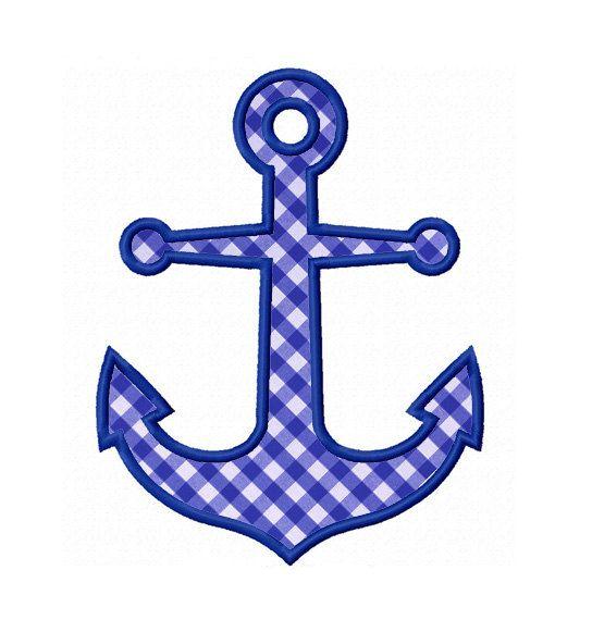 Anchor Applique Machine Embroidery Design NO:0172 | Patrones para ...