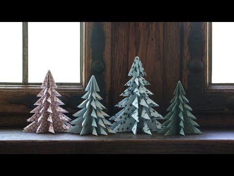 DIY - Bäume falten #christmastreeideas