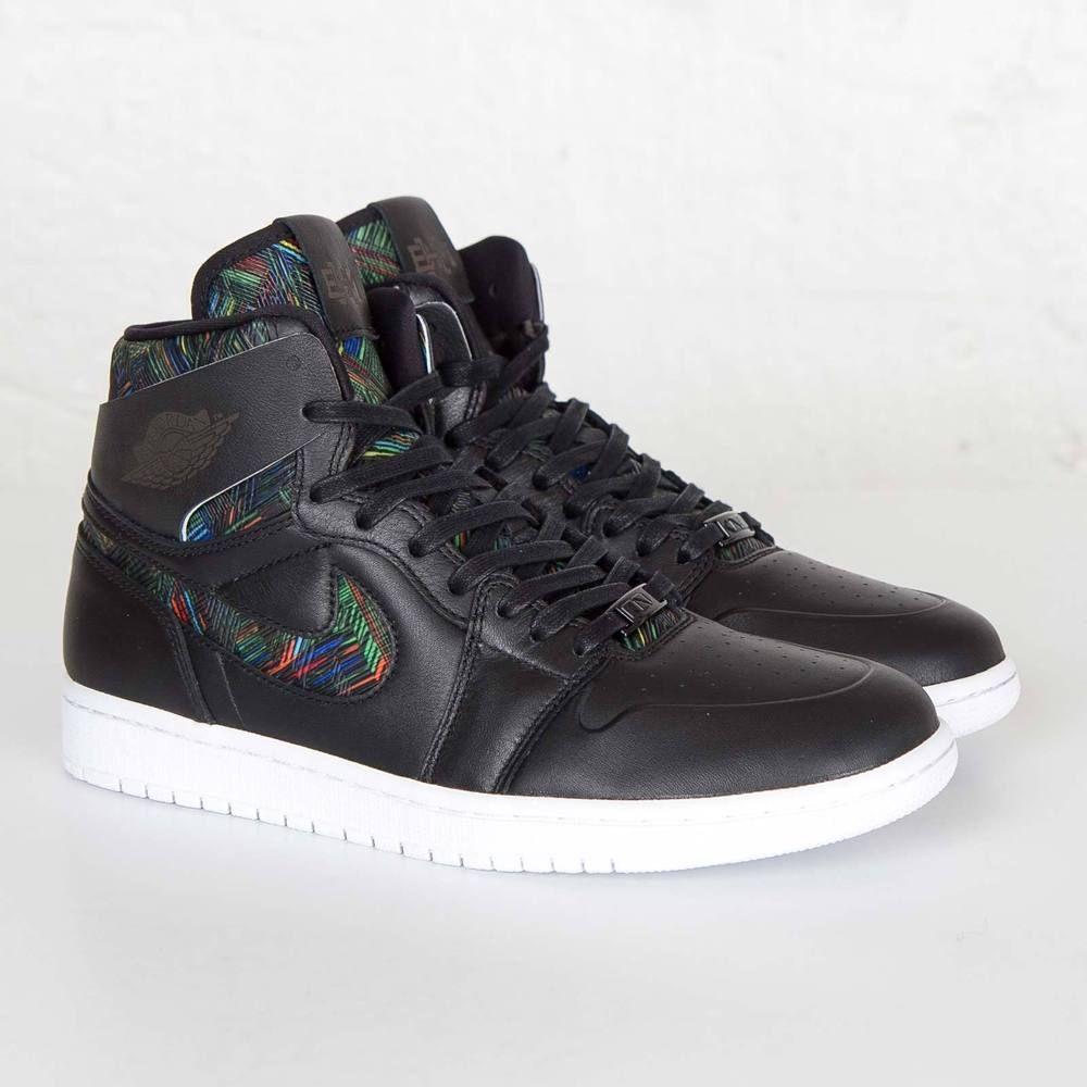 najlepszy wybór rozmiar 40 ponadczasowy design Jordan Air Jordan 1 Retro High NOUV BHM Men Black Sneakers ...