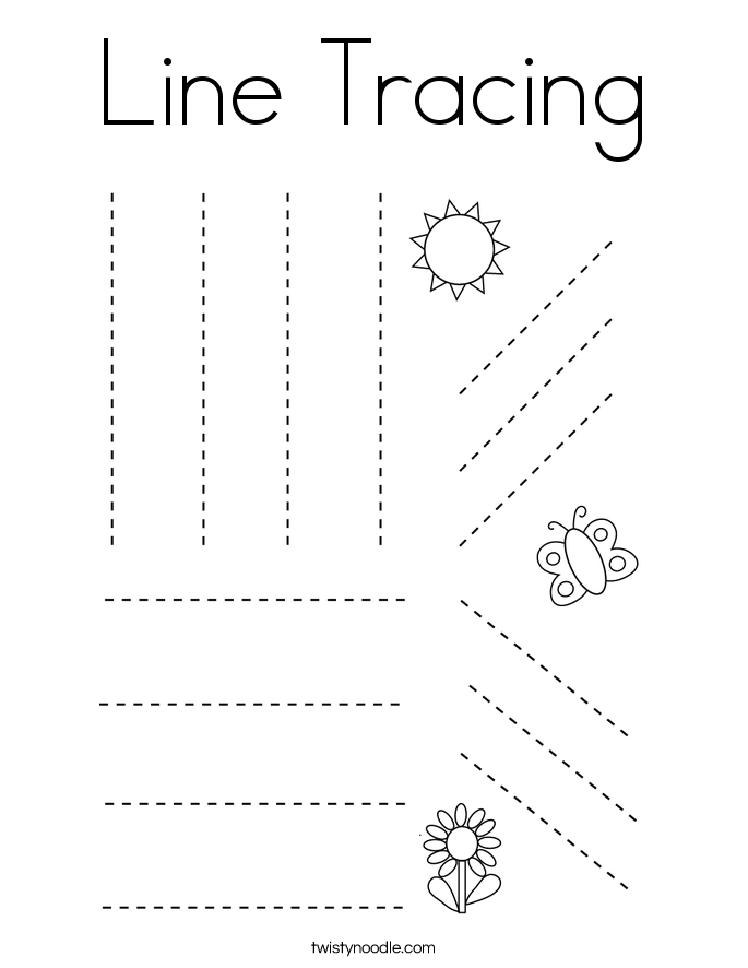Line Tracing Coloring Page Twisty Noodle Tracing Worksheets Preschool Writing Practice Worksheets Coloring Pages