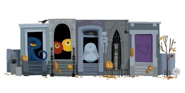 TOP 10 GOOGLE DOODLES OF 2012 Halloween doodle, Google
