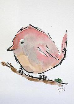 Premium-Poster Baby-Rotkehlchen Verbrugge Watercolor
