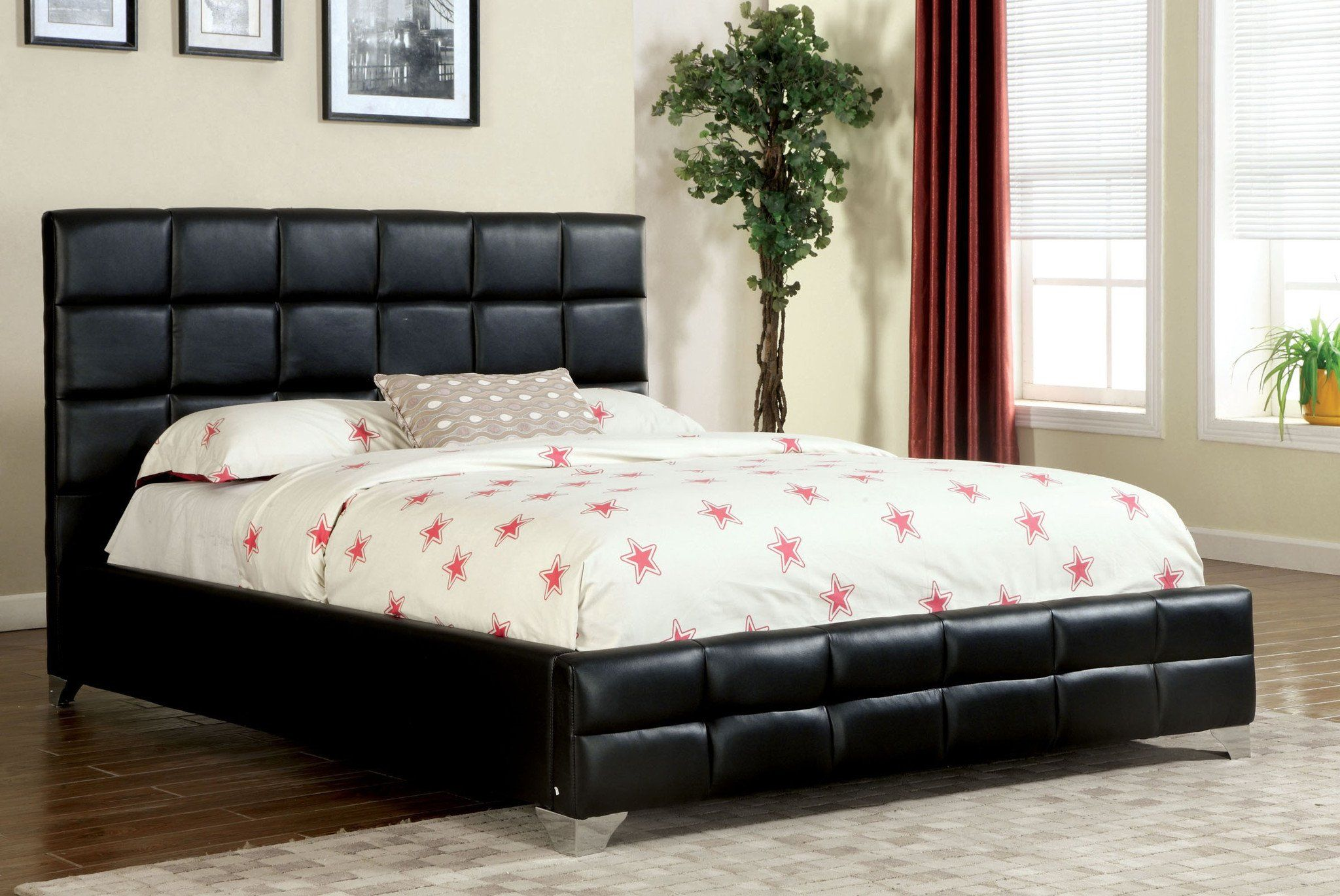 Boxspring And Mattress On Floor