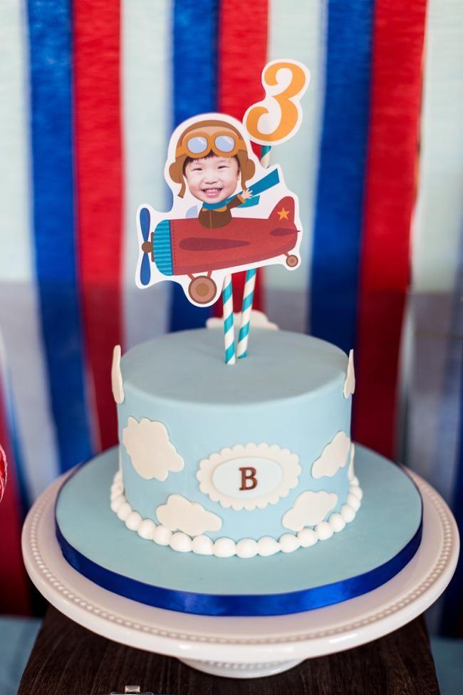 Boys Airplane Themed Birthday Party Cake Ideas Kids Parties