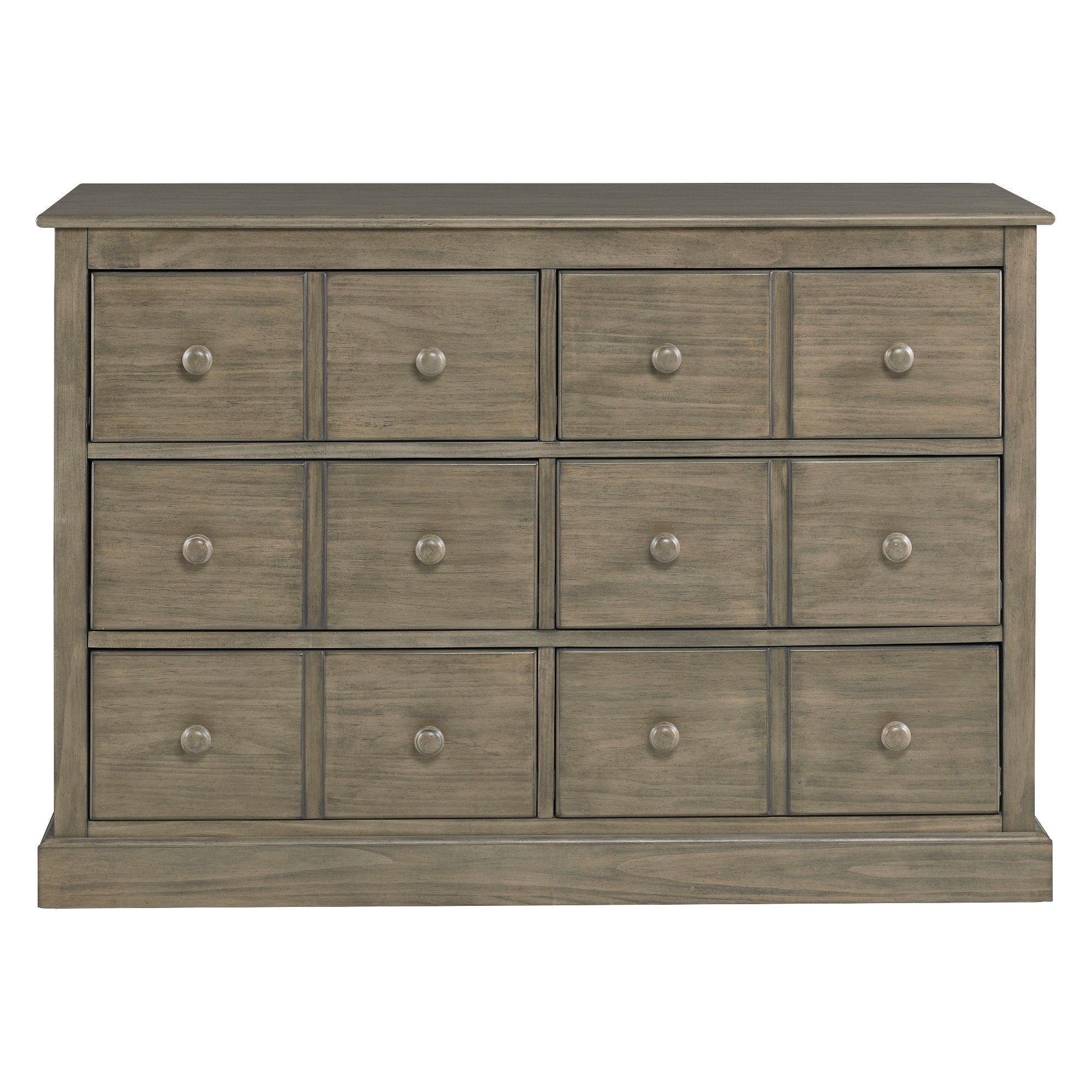 FisherPrice 6Drawer Double Dresser Vintage Gray, White