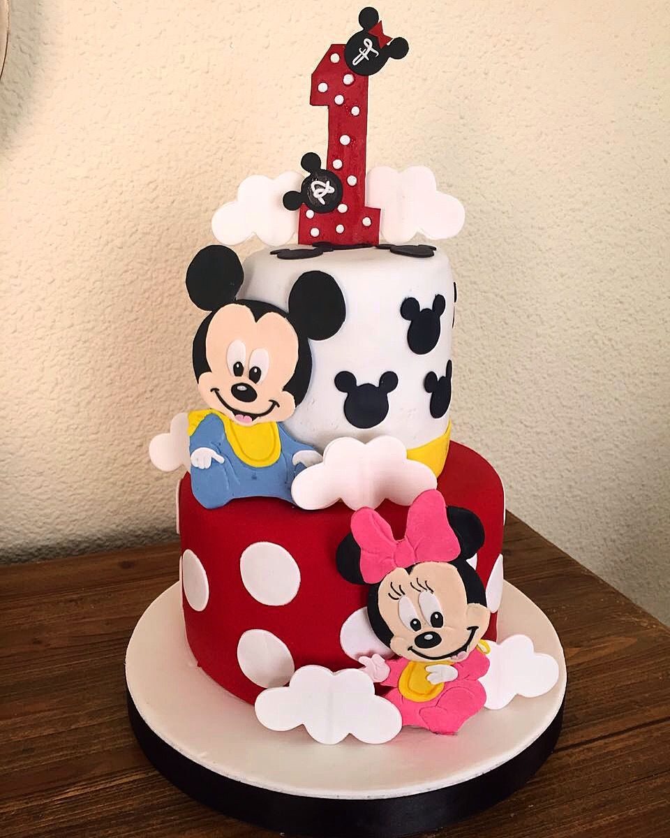 Fantastic Mickey And Minnie Twins Cake With Images Mickey Cakes Twin Funny Birthday Cards Online Alyptdamsfinfo