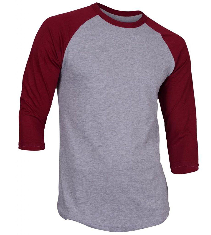 de970457 Dream USA Men's Casual 3/4 Sleeve Baseball Tshirt Raglan Jersey ...